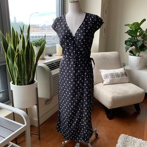 J.Crew Rayon Easy Wrap Floral Dress Size XS